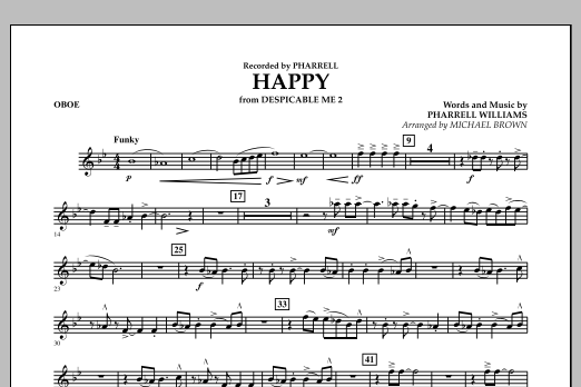 Happy (from Despicable Me 2) (arr. Michael Brown) - Oboe (Concert Band)
