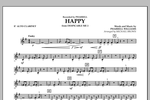 Happy (from Despicable Me 2) (arr. Michael Brown) - Eb Alto Clarinet (Concert Band)