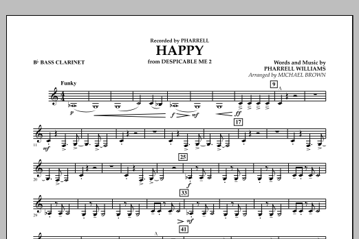 Happy (from Despicable Me 2) (arr. Michael Brown) - Bb Bass Clarinet (Concert Band)