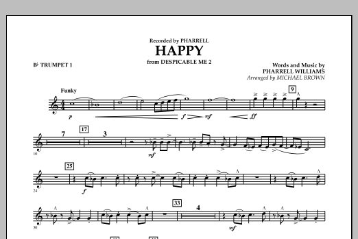 Happy (from Despicable Me 2) (arr. Michael Brown) - Bb Trumpet 1 (Concert Band)