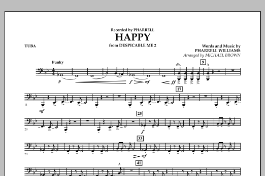 Happy (from Despicable Me 2) (arr. Michael Brown) - Tuba (Concert Band)