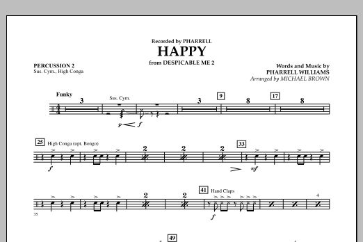 Happy (from Despicable Me 2) (arr. Michael Brown) - Percussion 2 (Concert Band)
