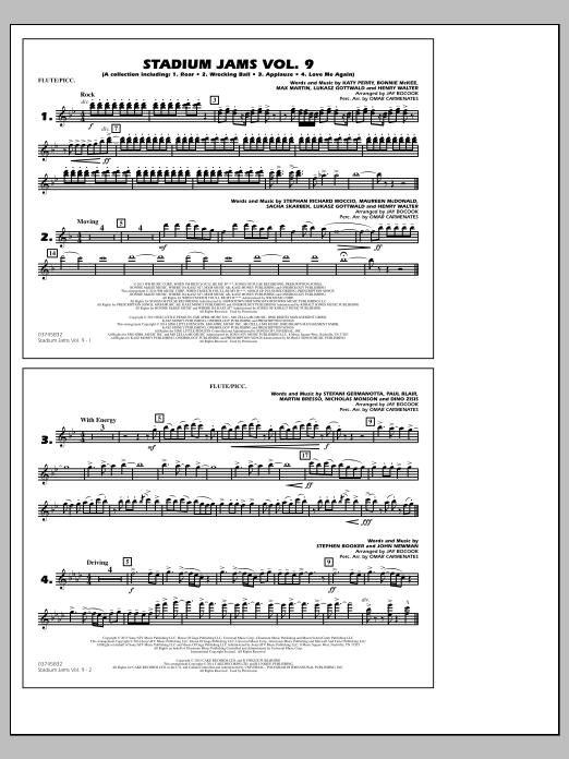 Stadium Jams - Volume 9 - Flute/Piccolo (Marching Band)