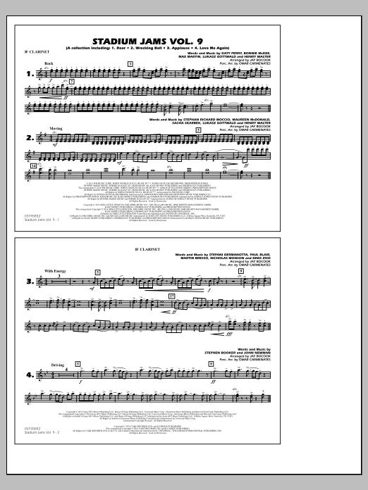 Stadium Jams - Volume 9 - Bb Clarinet (Marching Band)