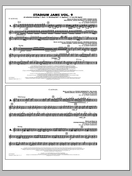 Stadium Jams - Volume 9 - Eb Alto Sax (Marching Band)