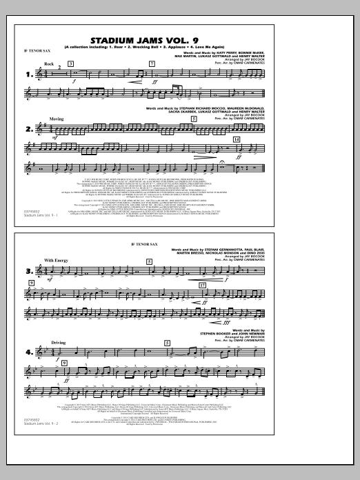 Stadium Jams - Volume 9 - Bb Tenor Sax (Marching Band)