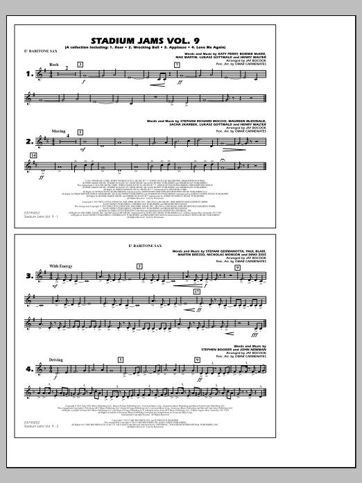 Stadium Jams - Volume 9 - Eb Baritone Sax (Marching Band)