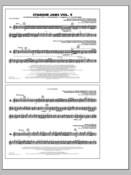 Stadium Jams - Volume 9 - 1st Bb Trumpet (Marching Band)