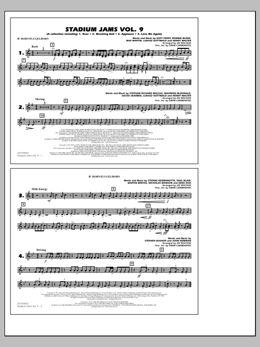 Stadium Jams - Volume 9 - Bb Horn/Flugelhorn (Marching Band)