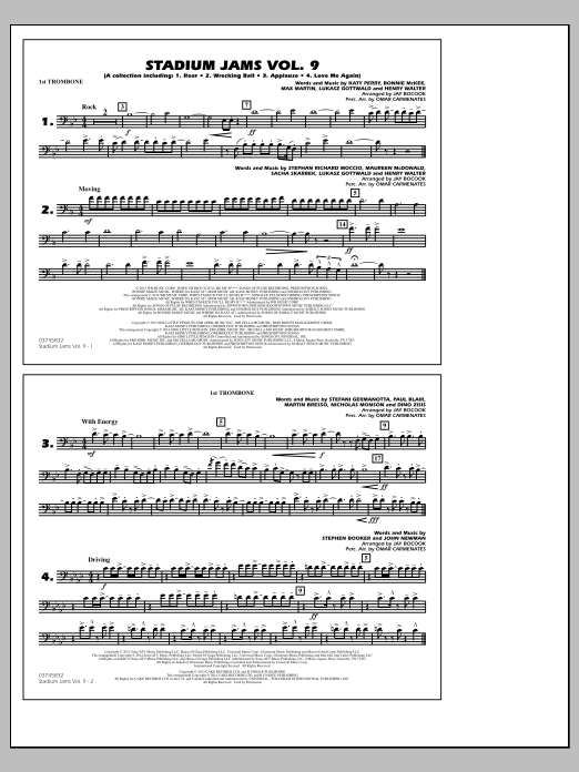 Stadium Jams - Volume 9 - 1st Trombone (Marching Band)