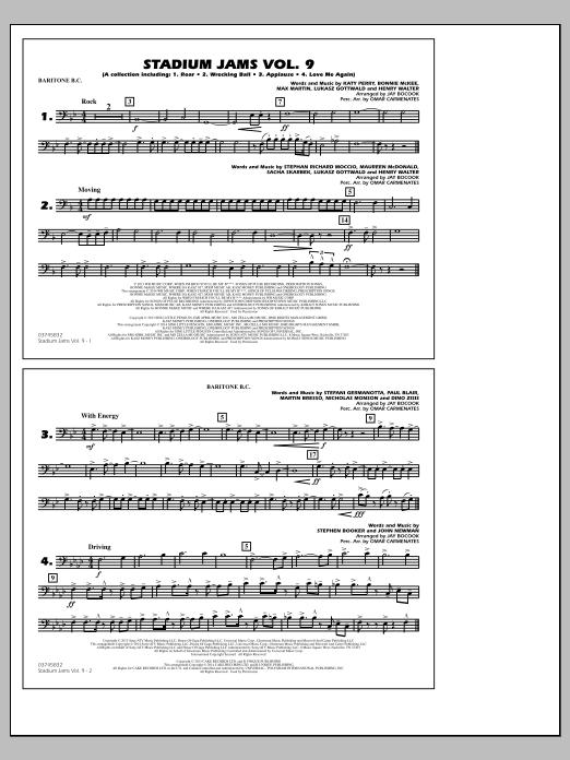 Stadium Jams - Volume 9 - Baritone B.C. (Marching Band)