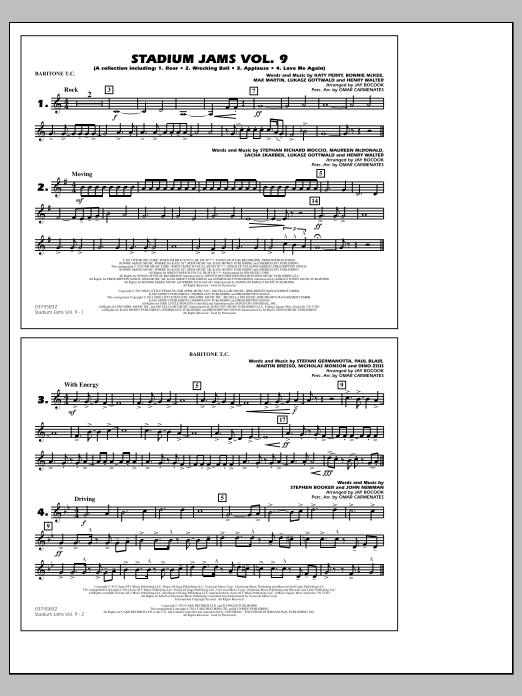 Stadium Jams - Volume 9 - Baritone T.C. (Marching Band)
