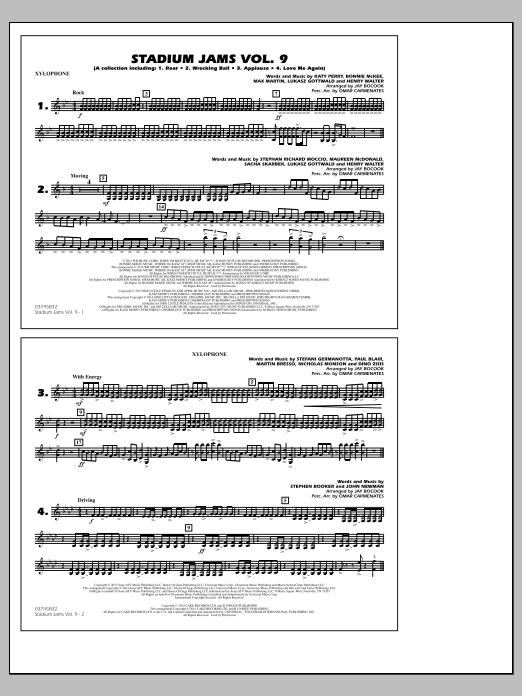 Stadium Jams - Volume 9 - Xylophone (Marching Band)