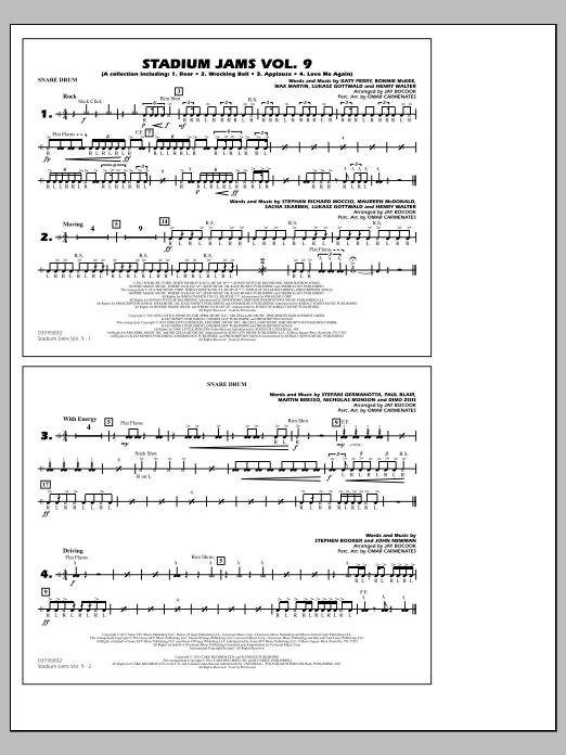 Stadium Jams - Volume 9 - Snare Drum (Marching Band)