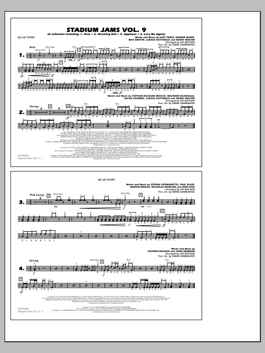 Stadium Jams - Volume 9 - Quad Toms (Marching Band)