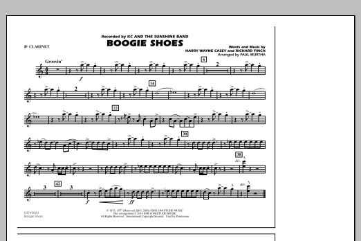 Boogie Shoes - Bb Clarinet (Marching Band)