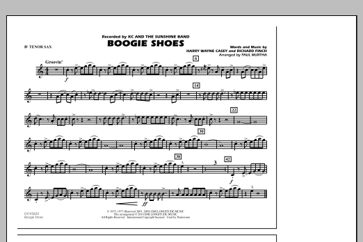 Boogie Shoes - Bb Tenor Sax (Marching Band)