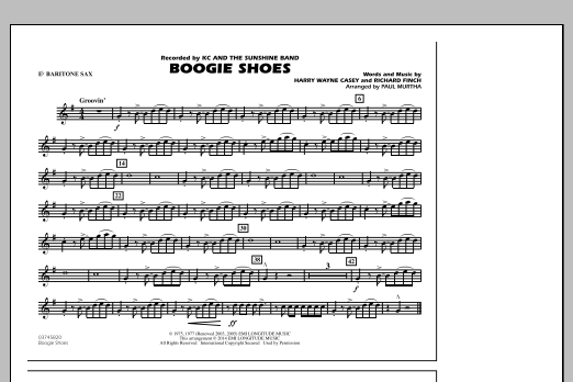 Boogie Shoes - Eb Baritone Sax (Marching Band)