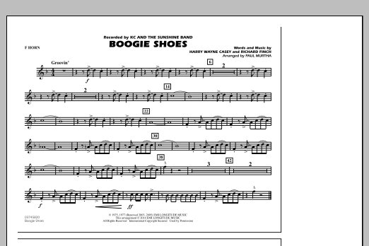 Boogie Shoes - F Horn (Marching Band)