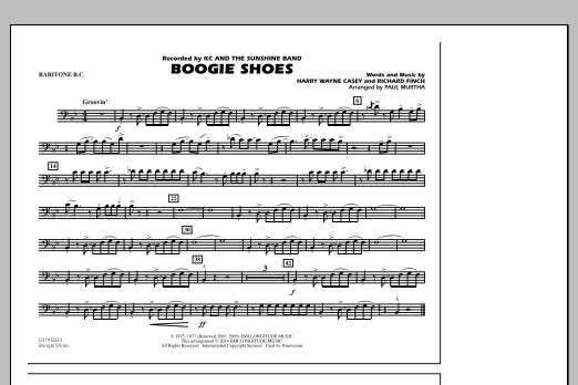 Boogie Shoes - Baritone B.C. (Marching Band)