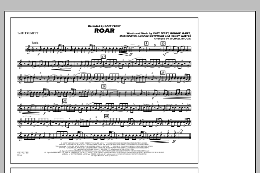 Roar - 1st Bb Trumpet (Marching Band)