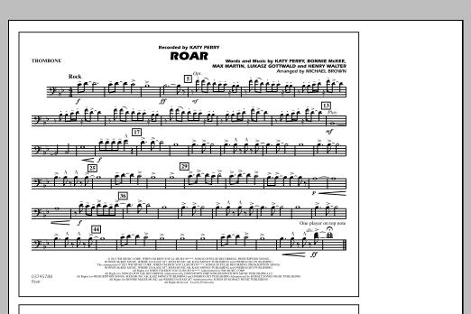 Roar - Trombone (Marching Band)