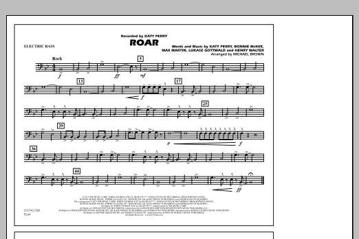 Roar - Electric Bass (Marching Band)