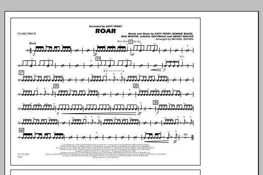 Roar - Snare Drum (Marching Band)