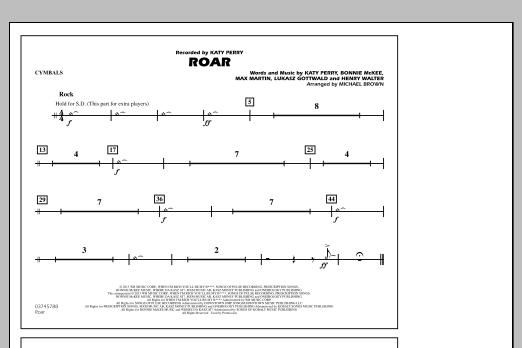 Roar - Cymbals (Marching Band)