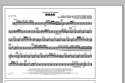 Roar - Quad Toms (Marching Band)