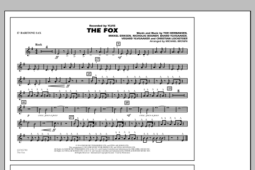 The Fox - Eb Baritone Sax (Marching Band)