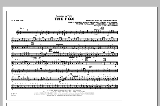 The Fox - 3rd Bb Trumpet (Marching Band)