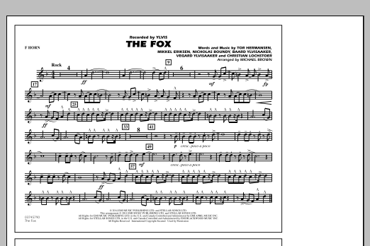 The Fox - F Horn (Marching Band)