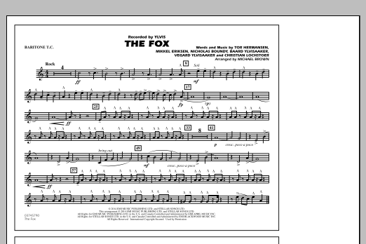 The Fox - Baritone T.C. Sheet Music