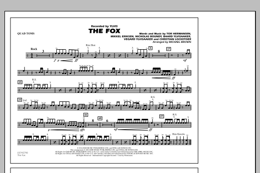 The Fox - Quad Toms (Marching Band)