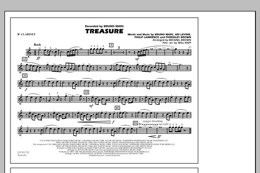Treasure - Bb Clarinet (Marching Band)