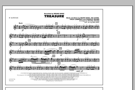 Treasure - Eb Alto Sax (Marching Band)