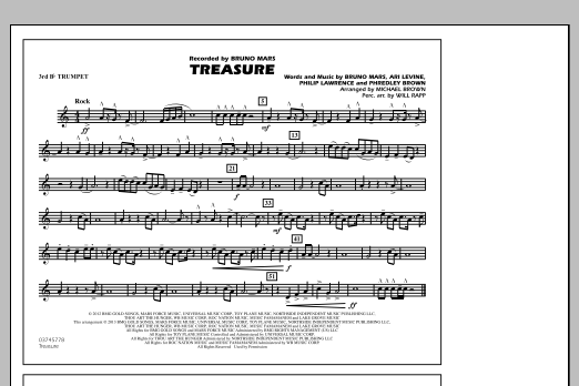 Treasure - 3rd Bb Trumpet (Marching Band)