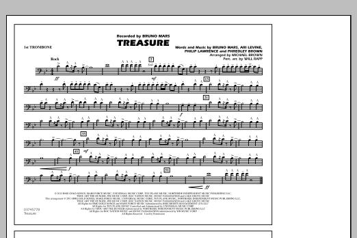 Treasure - 1st Trombone (Marching Band)