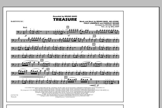 Treasure - Baritone B.C. (Marching Band)