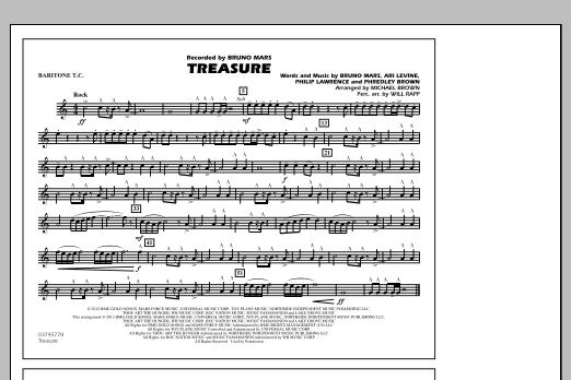 Treasure - Baritone T.C. (Marching Band)