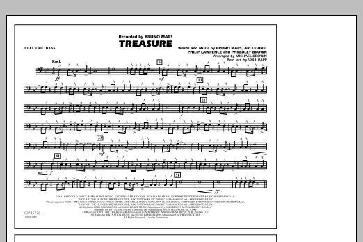 Treasure - Electric Bass (Marching Band)