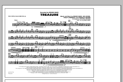 Treasure - Multiple Bass Drums (Marching Band)