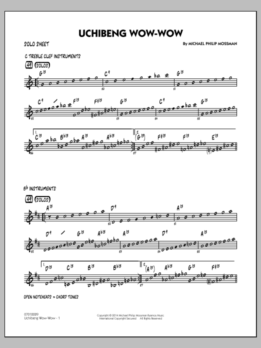 Uchibeng Wow-wow - Solo Sheet (Jazz Ensemble)