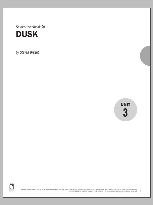 Guides to Band Masterworks, Vol. 4 - Student Workbook - Dusk Sheet Music