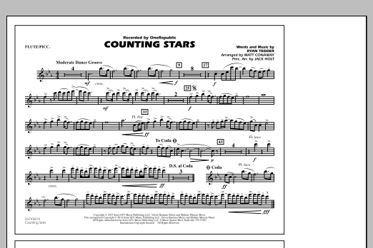 Counting Stars - Flute/Piccolo (Marching Band)