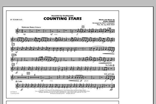 Counting Stars - Bb Tenor Sax (Marching Band)