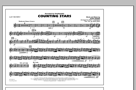 Counting Stars - 1st Bb Trumpet (Marching Band)