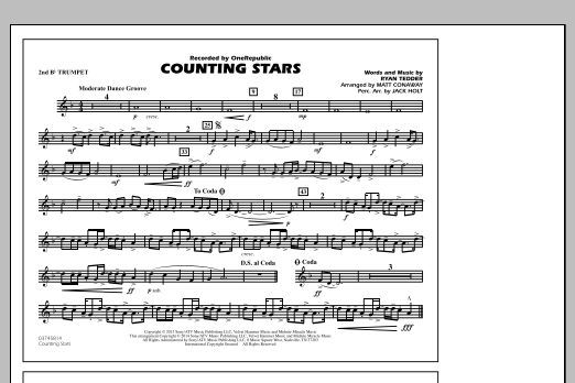 Counting Stars - 2nd Bb Trumpet (Marching Band)