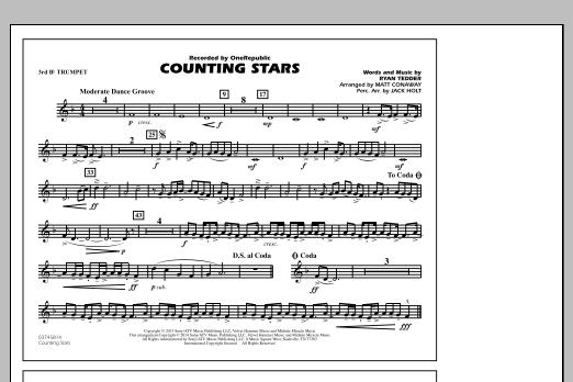 Counting Stars - 3rd Bb Trumpet (Marching Band)